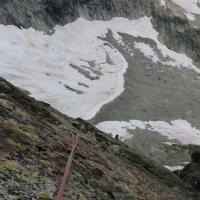 Aiguille Dibona - Voie des nains - 03 - Dernière longueur