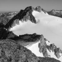 Aiguille du Tour, vue du sommet de Petite Fourche