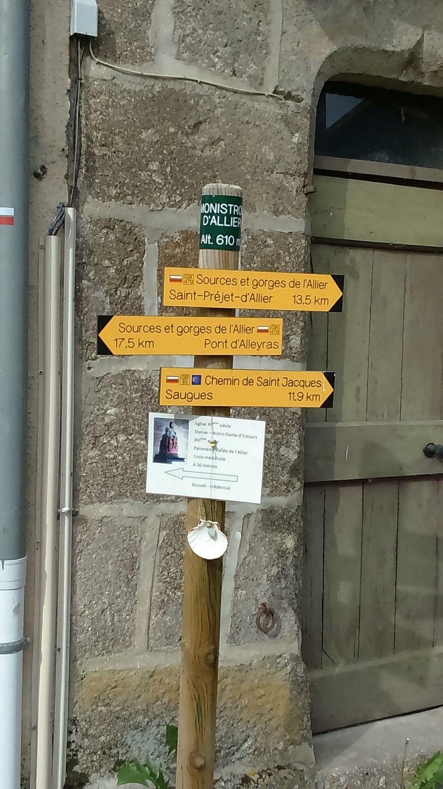 passage par Monistrol d'Allier