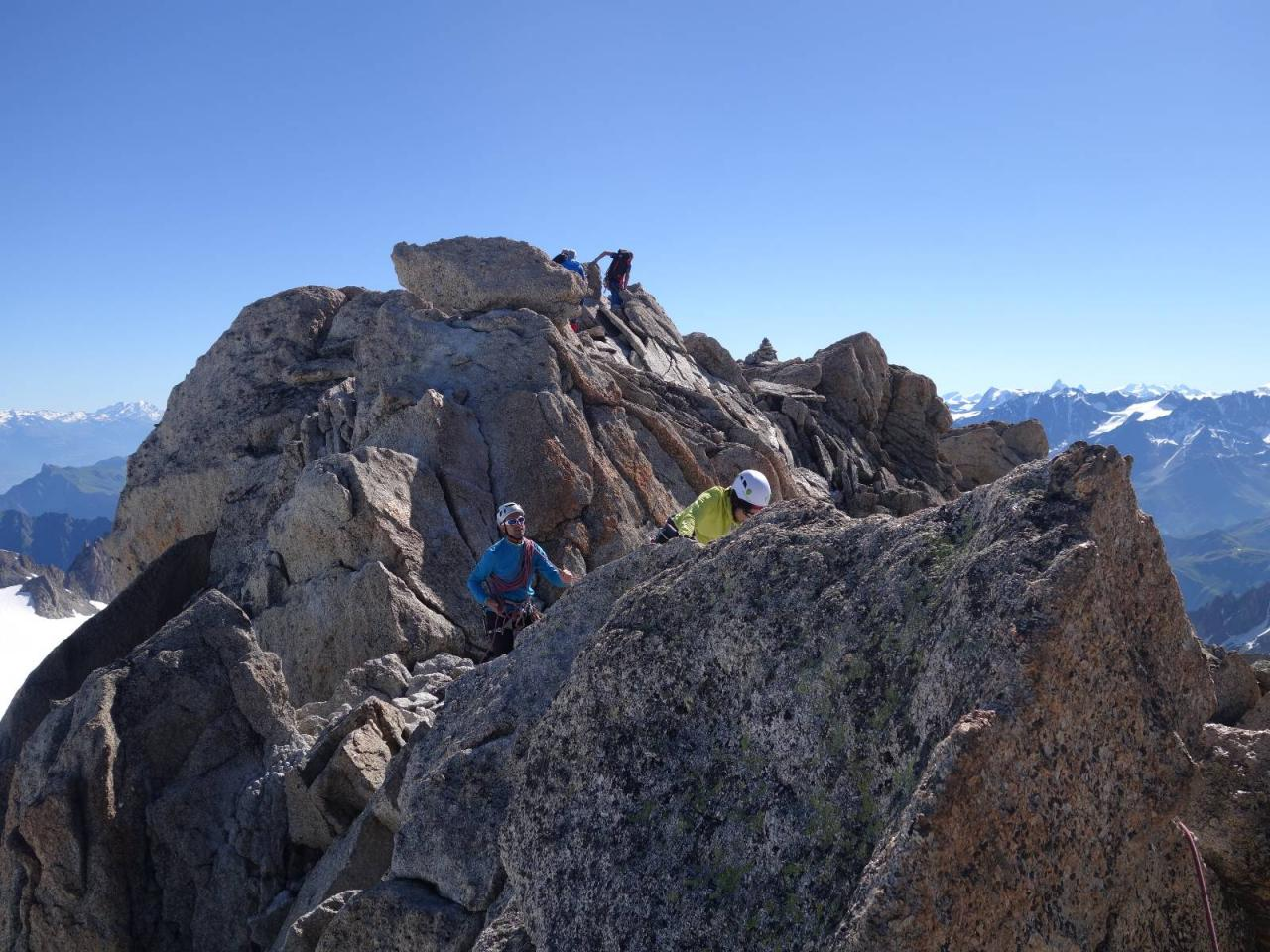 Arête vers Petite Fourche 3520m