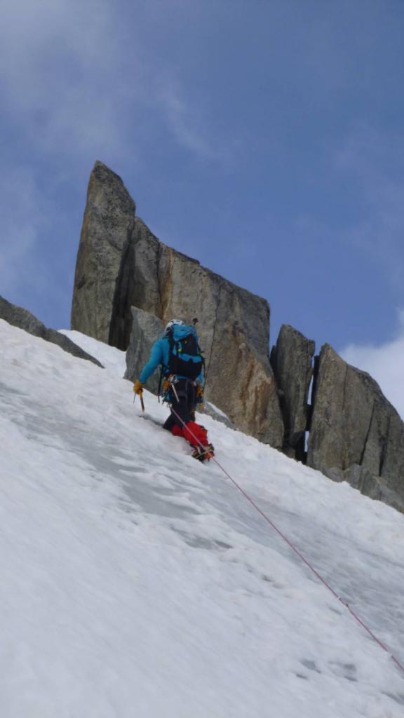 """Petite Aiguille Verte 3512m , passage """"en glace"""""""