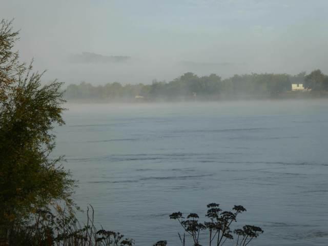 la Seine dans la brume