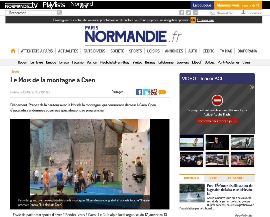 Paris Normandie 15 janvier 2016