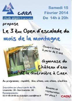 Affiche open d escalade 2014