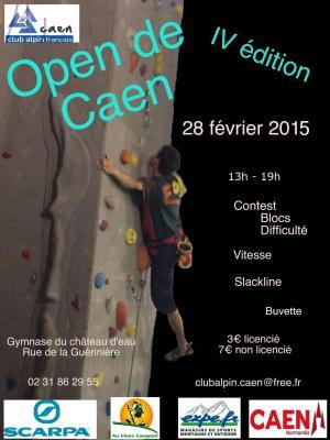 Affiche open d escalade 2015