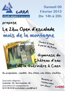 Affiche open d escalade 2013