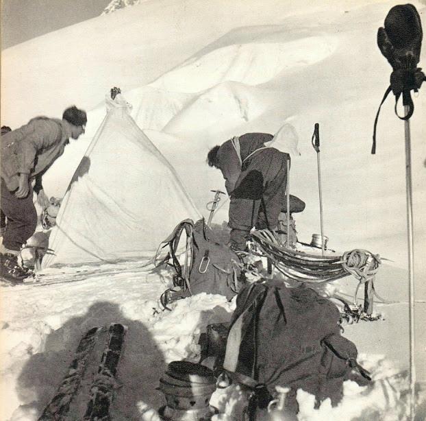 Camp en montagne